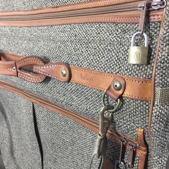 2bb9906a3ec7 Vintage Hartmann Mens Canvas Leather Garment Bag